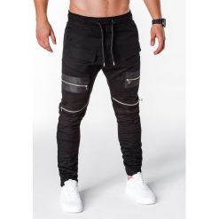 SPODNIE MĘSKIE JOGGERY P708 - CZARNE. Czarne joggery męskie Ombre Clothing. Za 79,00 zł.