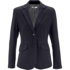 Żakiet bawełniany z dżerseju bonprix czarny. Brązowe marynarki i żakiety damskie marki bonprix. Za 149,99 zł.