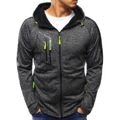 Bluzy męskie: Bluza męska rozpinana antracytowa (bx2211)