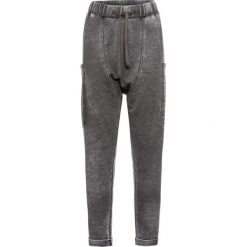 Spodnie dresowe damskie: Bojówki dresowe bonprix antracytowy melanż