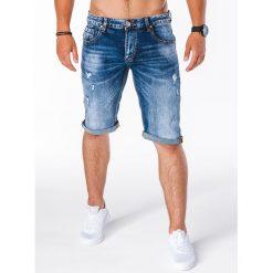 KRÓTKIE SPODENKI MĘSKIE JEANSOWE W114 - NIEBIESKIE. Niebieskie spodenki jeansowe męskie marki ARTENGO, l. Za 41,30 zł.