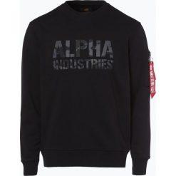 Bejsbolówki męskie: Alpha Industries - Męska bluza nierozpinana, czarny