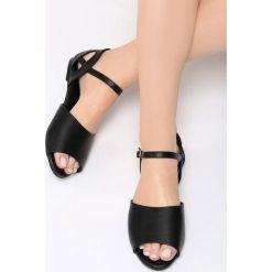 Sandały damskie: Czarne Sandały Make A Move