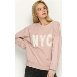 Bluzy damskie: Różowa Bluza NoYoCo