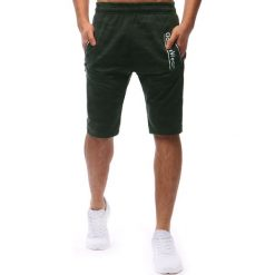 Spodenki i szorty męskie: Spodenki dresowe męskie khaki (sx0635)