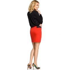 Spódniczka mini z elastycznymi wstawkami po bokach - czerwona - 2