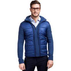 Sweter GERMANO SWG000004. Czarne swetry rozpinane męskie marki Reserved, m, z kapturem. Za 499,00 zł.