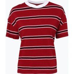 Tommy Jeans - T-shirt damski, czerwony. Czerwone t-shirty damskie Tommy Jeans, s, w paski, z jeansu. Za 199,95 zł.