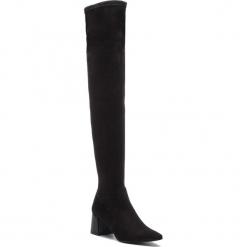 Muszkieterki ZINDA - 3651 Daino Negro. Czarne buty zimowe damskie Zinda, z materiału, na obcasie. Za 659,00 zł.