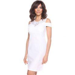 """Sukienki hiszpanki: Sukienka """"Shir"""" w kolorze białym"""