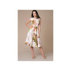 Sukienka Midi Azalea Bloosom Ombre. Szare sukienki na komunię Nat fashion room, na wiosnę, z bawełny, midi, dopasowane. Za 390,00 zł.
