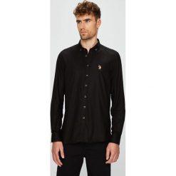 U.S. Polo - Koszula. Czarne koszule męskie na spinki marki U.S. Polo, l, z bawełny, button down, z długim rękawem. W wyprzedaży za 269,90 zł.