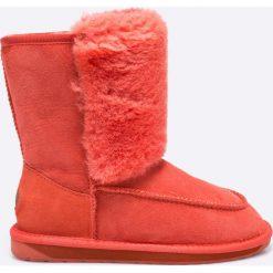 Emu Australia - Botki Launceston. Różowe botki damskie na obcasie marki EMU Australia, z gumy, z okrągłym noskiem. W wyprzedaży za 399,90 zł.