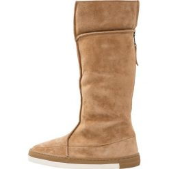 HUB DANCE BOOT Śniegowce oak brown/offwhite. Brązowe buty zimowe damskie HUB, z materiału. W wyprzedaży za 345,95 zł.