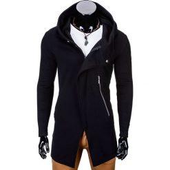 BLUZA MĘSKA ROZPINANA Z KAPTUREM B668 HUGO - CZARNA. Czarne bluzy męskie rozpinane Ombre Clothing, l, z bawełny, z kapturem. Za 99,00 zł.