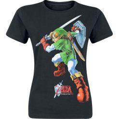 The Legend Of Zelda Fight Koszulka damska czarny. Czarne bluzki asymetryczne The Legend Of Zelda, s, z nadrukiem, z okrągłym kołnierzem. Za 32,90 zł.
