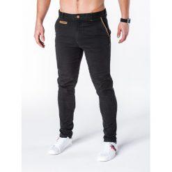 Spodnie męskie: SPODNIE MĘSKIE CHINO P646 – CZARNE
