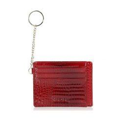 Portfele damskie: Skórzany portfel w kolorze czerwonym - (S)11 x (W)8,5 cm