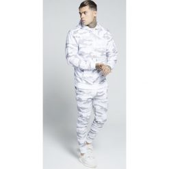 Kardigany męskie: SIKSILK ZIP THROUGH HOODIE Bluza rozpinana white camo