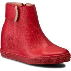 Botki R.POLAŃSKI - 0838 Czerwony Lico. Czarne buty zimowe damskie marki R.Polański, ze skóry, na obcasie. W wyprzedaży za 259,00 zł.