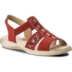 Sandały damskie: Sandały CAPRICE – 9-28601-20 Red Nubuc 544