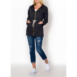 Bluzy rozpinane damskie: Bluza dresowa ze złotym zamkiem