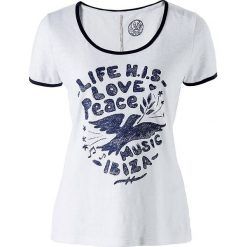 T-shirty damskie: Koszulka w kolorze biało-niebieskim