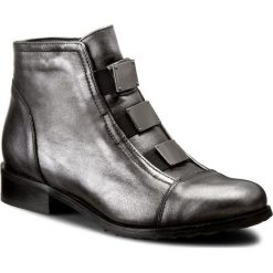 Botki EKSBUT - 65-3558-E04-1G Czarny/Srebro Lic. Szare buty zimowe damskie Eksbut, ze skóry, na obcasie. W wyprzedaży za 249,00 zł.