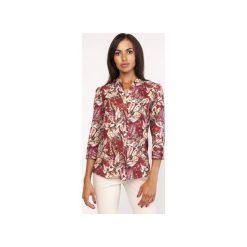 Koszula o luźnym kroju, K111 wzór. Szare koszule wiązane damskie Lanti, na jesień. Za 119,00 zł.