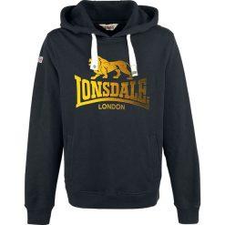 Lonsdale London Achies Bluza z kapturem czarny. Czarne bluzy męskie rozpinane marki Lonsdale London, xl, z aplikacjami, z kapturem. Za 199,90 zł.