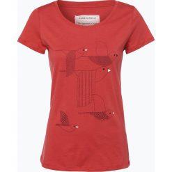ARMEDANGELS - T-shirt damski – Mari Birds Stacked, czerwony. Czerwone t-shirty damskie ARMEDANGELS, s, z nadrukiem, z dżerseju. Za 129,95 zł.