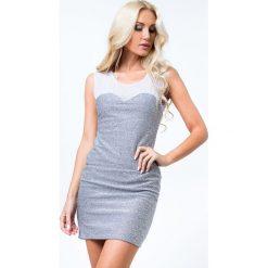 Sukienka mini srebrna 21290. Szare sukienki Fasardi, l, mini. Za 49,00 zł.