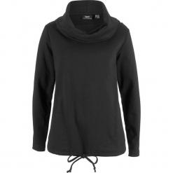 Bluza dresowa bonprix czarny. Czarne bluzy damskie bonprix, z dresówki. Za 84,99 zł.