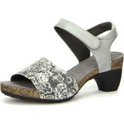 """Rzymianki damskie: Skórzane sandały """"Traudi"""" w kolorze szaro-czarnym"""