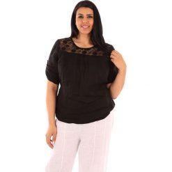 """T-shirty damskie: Lniana koszulka """"Majorque"""" w kolorze czarnym"""