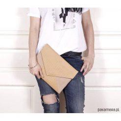 Torebki i plecaki damskie: Kopertówka Letter beżowa pleciona