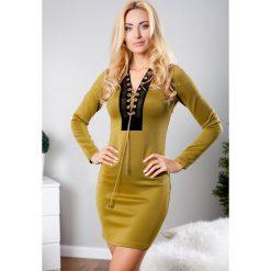 Sukienki: Sukienka mini khaki TA2279