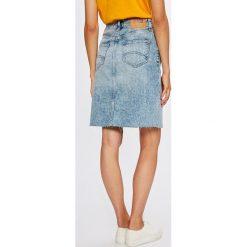Tommy Jeans - Spódnica. Szare spódniczki jeansowe marki Tommy Jeans, z podwyższonym stanem, midi, ołówkowe. W wyprzedaży za 349,90 zł.