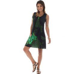 Odzież damska: Sukienka w kolorze czarno-zielonym