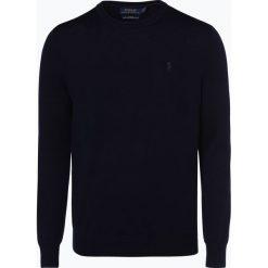 Polo Ralph Lauren - Męski sweter z wełny merino – Slim Fit, niebieski. Niebieskie swetry klasyczne męskie marki Polo Ralph Lauren, m, z dzianiny, polo. Za 499,95 zł.
