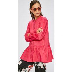 Answear - Koszula. Szare koszule damskie marki ANSWEAR, l, z elastanu, casualowe, ze stójką, z długim rękawem. W wyprzedaży za 79,90 zł.