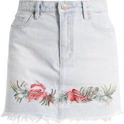 Spódniczki jeansowe: MINKPINK ALOHA SKIRT Spódnica jeansowa washed blue