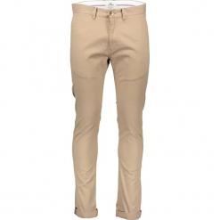 Spodnie chino - Skonny fit - w kolorze beżowym. Brązowe chinosy męskie marki Ben Sherman, w paski, z materiału. W wyprzedaży za 173,95 zł.