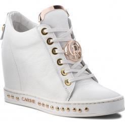 Sneakersy CARINII - B4616 I81-000-000-C98. Białe sneakersy damskie Carinii, z materiału. W wyprzedaży za 259,00 zł.