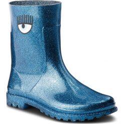 Kalosze CHIARA FERRAGNI - 18AI-CF2176 Blu. Niebieskie buty zimowe damskie Chiara Ferragni, z materiału. Za 809,00 zł.