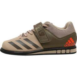 Adidas Performance POWERLIFT.3.1 Obuwie treningowe beige/olive/black. Brązowe buty sportowe męskie marki adidas Performance, z gumy. W wyprzedaży za 359,10 zł.