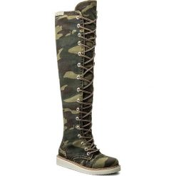 Muszkieterki SERGIO BARDI - Airasca FW127279817HB 969. Zielone buty zimowe damskie Sergio Bardi, z materiału. W wyprzedaży za 249,00 zł.