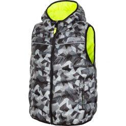 Bezrękawnik puchowy dla dużych chłopców JKUMB201 - multikolor. Brązowe kurtki dziewczęce przeciwdeszczowe marki 4F JUNIOR, z materiału, z kapturem. Za 59,99 zł.