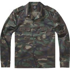 Brandit US Hemd langarm Koszula kamuflaż Woodland. Czarne koszule męskie na spinki marki Leonardo Carbone, s, z materiału, z długim rękawem. Za 94,90 zł.