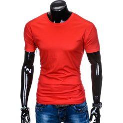 T-shirty męskie z nadrukiem: T-SHIRT MĘSKI BEZ NADRUKU S883 - CZERWONY